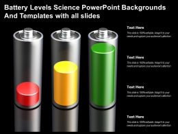 Battery Levels Science Powerpoint Backgrounds And Templates With All Slides