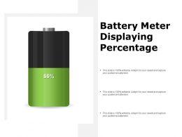 Battery Meter Displaying Percentage