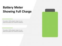 Battery Meter Showing Full Charge