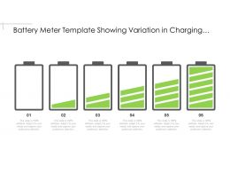 Battery Meter Template Showing Variation In Charging Levels
