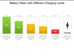 Battery Meter With Different Charging Levels