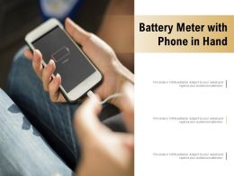 Battery Meter With Phone In Hand