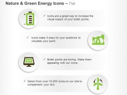 Battery Solar Cell Power Production Windmill Ppt Icons Graphics