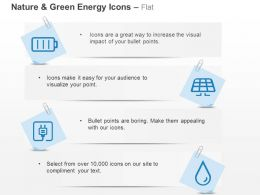 Battery Solar Panel Socket Drop Ppt Icons Graphics