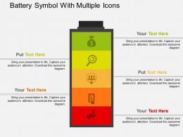 Battery Symbol With Multiple Icons Flat Powerpoint Design