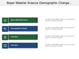 Bayer Material Science Demographic Change Access Health Care