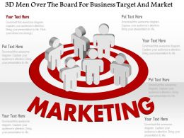 Bb 3d Men Over The Board For Business Target And Market Powerpoint Template