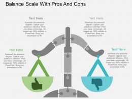 bb Balance Scale With Pros And Cons Flat Powerpoint Design