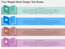 bb Four Staged Book Design Text Boxes Flat Powerpoint Design