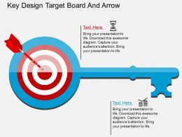 bb Key Design Target Board And Arrow Flat Powerpoint Design