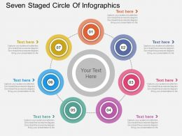 bb Seven Staged Circle Of Infographics Flat Powerpoint Design