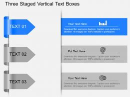 Bb Three Staged Vertical Text Boxes Powerpoint Template Slide
