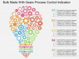 bc Bulb Made With Gears Process Control Indication Flat Powerpoint Design