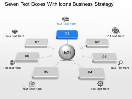 Bc Seven Text Boxes With Icons Business Strategy Powerpoint Template