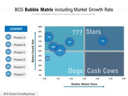 BCG Bubble Matrix Including Market Growth Rate