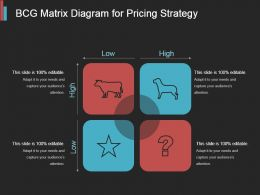 Bcg Matrix Diagram For Pricing Strategy Powerpoint Graphics