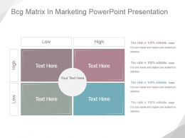 Bcg Matrix In Marketing Powerpoint Presentation
