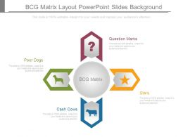Bcg Matrix Layout Powerpoint Slides Background