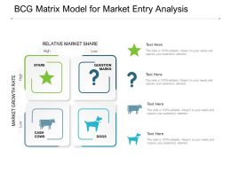 BCG Matrix Model For Market Entry Analysis
