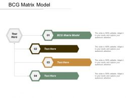 BCG Matrix Model Ppt Powerpoint Presentation Pictures Example Introduction Cpb