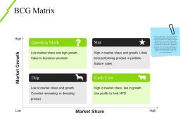 Bcg Matrix Powerpoint Layout Template 2