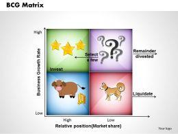 BCG Matrix powerpoint presentation slide template