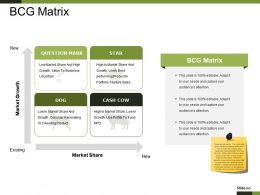Bcg Matrix Powerpoint Slide Background Designs