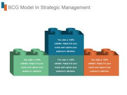 Bcg Model In Strategic Management Good Ppt Example