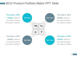 Bcg Product Portfolio Matrix Ppt Slide