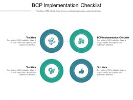 BCP Implementation Checklist Ppt Powerpoint Presentation Inspiration Objects Cpb