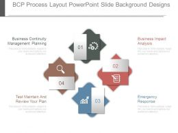 Bcp Process Layout Powerpoint Slide Background Designs