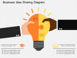 bd Business Idea Sharing Diagram Flat Powerpoint Design