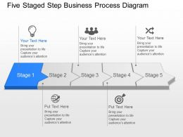 Bd Five Staged Step Business Process Diagram Powerpoint Template Slide