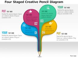 Bd Four Staged Creative Pencil Diagram Powerpoint Templets