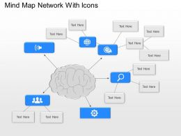 bd Mind Map Network With Icons Powerpoint Template