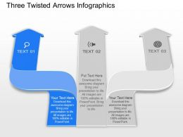 Bd Three Twisted Arrows Infographics Powerpoint Template Slide