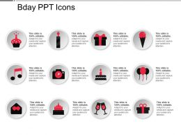 Bday Ppt Icons