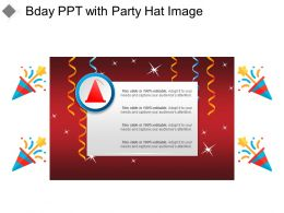 Bday Ppt With Party Hat Image