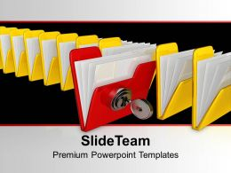Be Different Concept With Security PowerPoint Templates PPT Themes And Graphics 0113