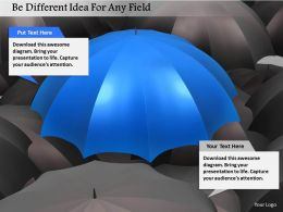 Be Different Idea For Any Field Image Graphics For Powerpoint