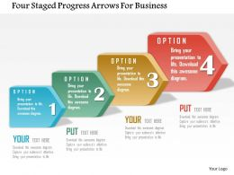 Be Four Staged Progress Arrows For Business Powerpoint Templets