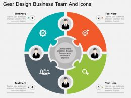 be Gear Design Business Team And Icons Flat Powerpoint Design