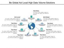 Be Global Act Local High Data Volume Solutions