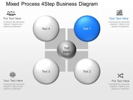 be Mixed Process 4 Step Business Diagram Powerpoint Template