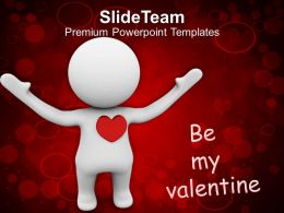 Be My Valentine Symbol Of Love PowerPoint Templates PPT Themes And Graphics 0213