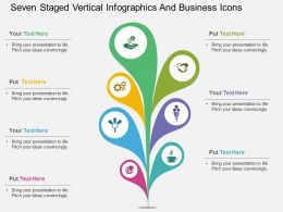 be Seven Staged Vertical Infographics And Business Icons Flat Powerpoint Design