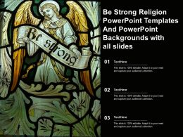 Be Strong Religion Templates And Powerpoint Backgrounds With All Slides Ppt Powerpoint