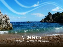 Beach Beauty PowerPoint Templates PPT Themes And Graphics 0213