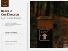 Beach In One Direction Sign Board Image