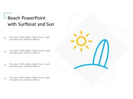 Beach Powerpoint With Surfboat And Sun